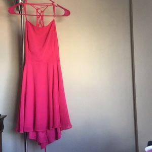 Flowy pink summer dress